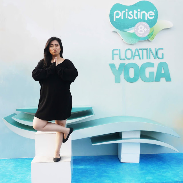 Floating Yoga on Water with Pristine 8+