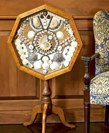 antique decorative shell work