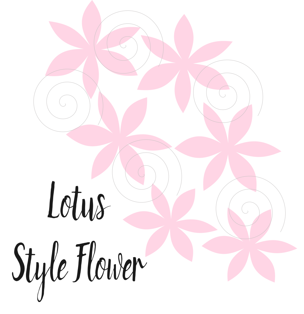 Easy diy small paper flowers lotus style abbi kirsten collections if you want to check out the templates click here templates are compatible with silhouette and cricut or if you are brave go ahead and hand cut mightylinksfo