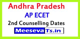 Andhra Pradesh AP ECET 2nd Counselling Dates