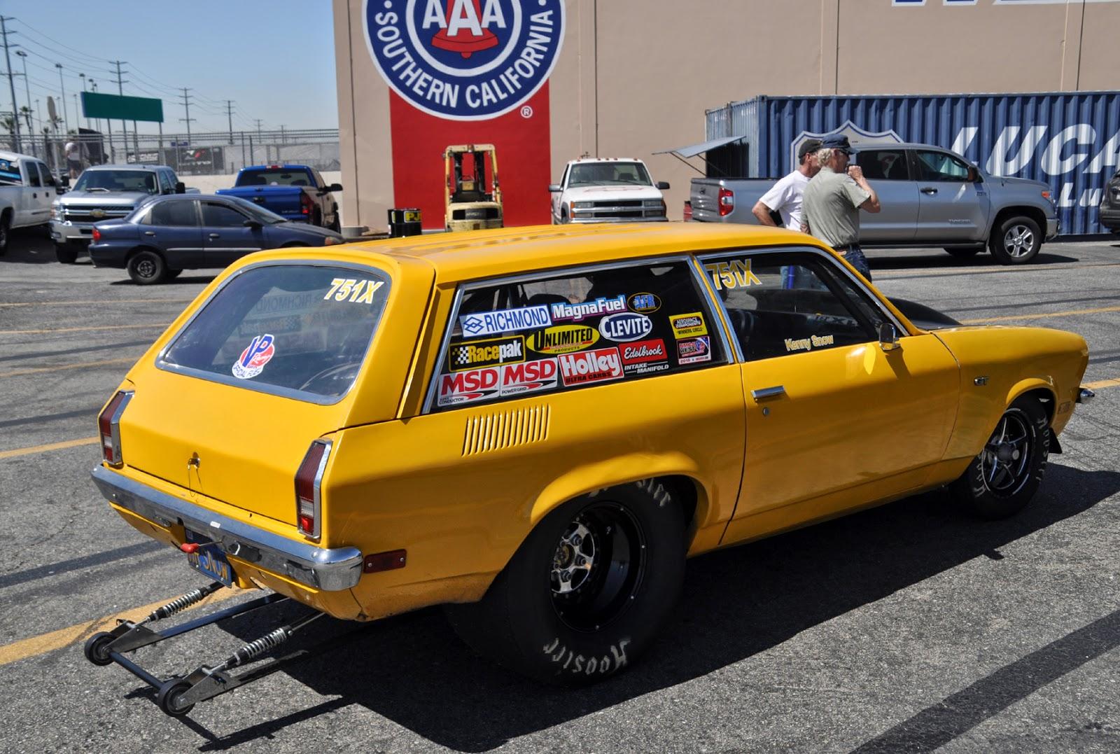 Vega station wagon    who knew they were still getting drag raced