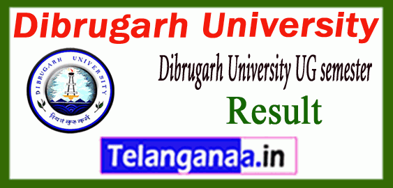 Dibrugarh University 1st 3rd 5th BA/ BSc/ BCom UG semester Result
