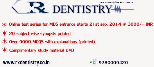 MDS ENTRANCE STUDY MATERIAL / TEST SERIES ONLINE