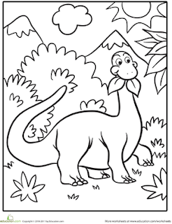 Dinosaur Coloring Pages For Prek
