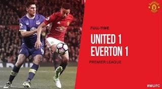 Manchester United Ditahan Imbang Everton 1-1