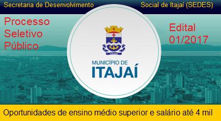 Apostila concurso Município de Itajaí 2017