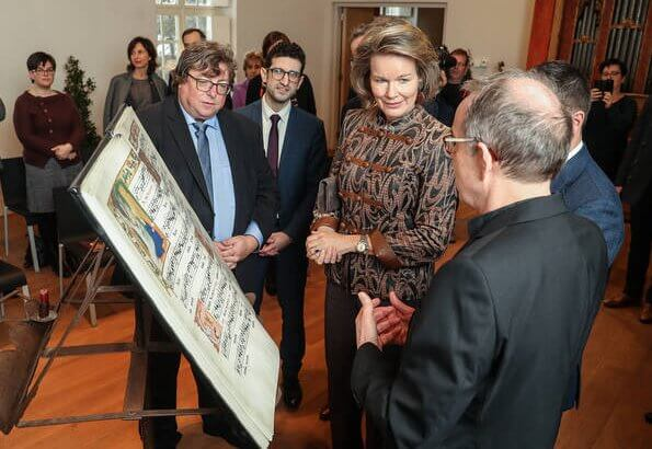 Queen Mathilde of Belgium visited The Alamire Foundation's House of Polyphony located in the Park Abbey in Heverlee
