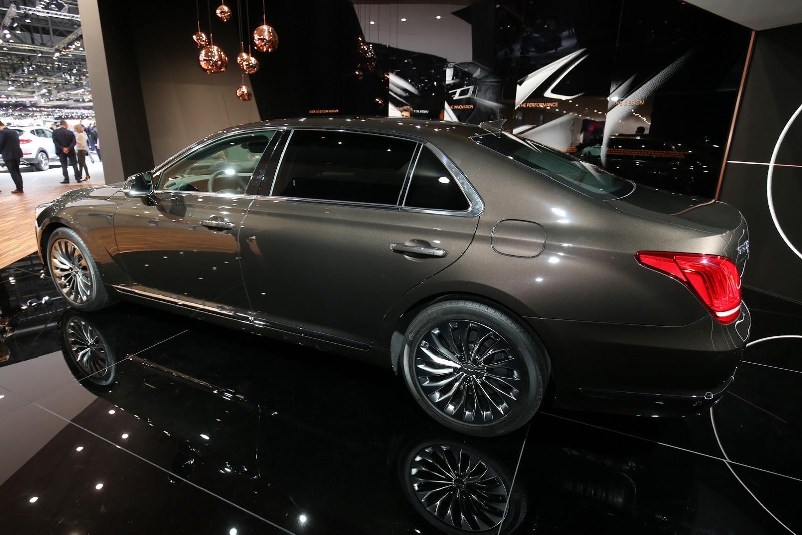 Genesis G90 2017 sẽ cạnh tranh trực tiếp với 7 Series của BMW và S Class của Mercedes