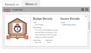 Credentials for my 1st designed badge