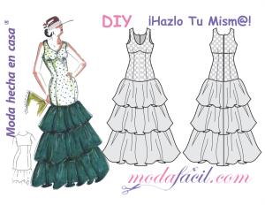 b45708127 Patrones gratis: vestidos de flamenca (varios modelos) - yo elijo Coser