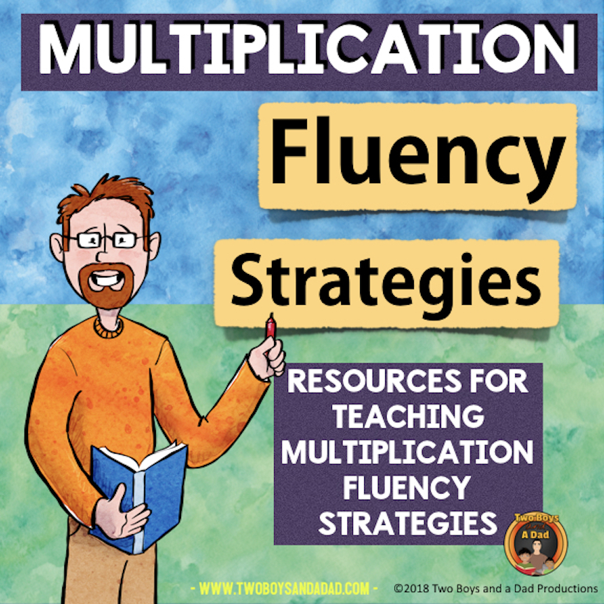 Multiplication Fluency Strategies resource on Teachers Pay Teachers