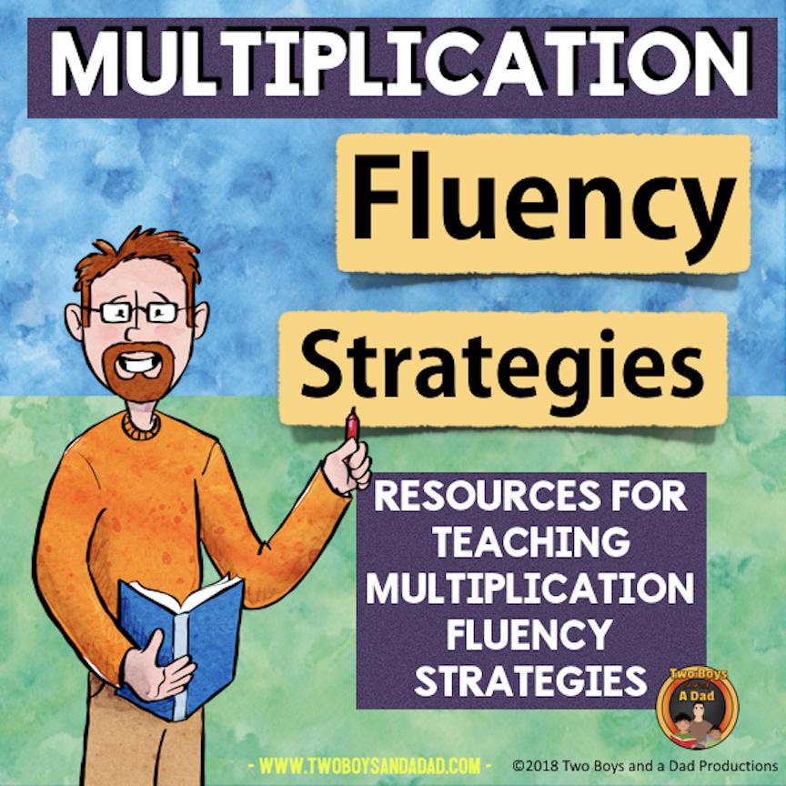 Multiplication Fluency Strategies resource on Teachers Pay Teachers