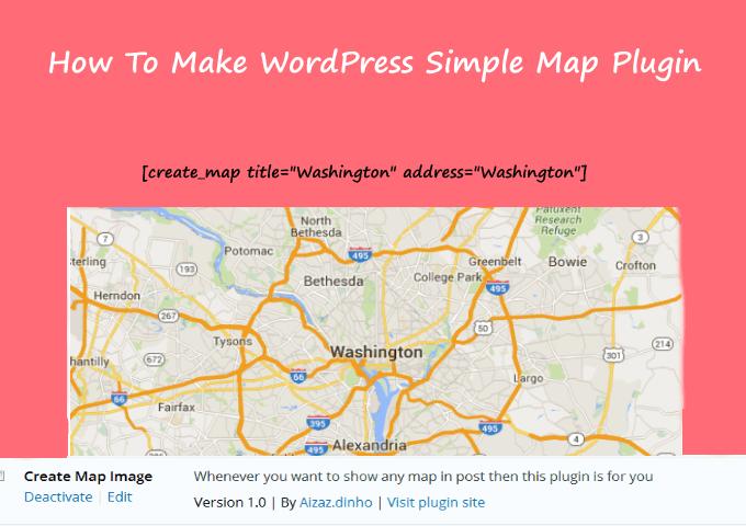 How To Make Wordpress Simple Google Map Plugin - Meralesson