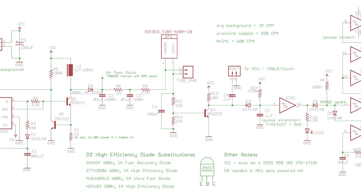 arduino collection geiger counter part 1Arduino Lcd Display Circuit Also Geiger Counter Circuit Schematic #5