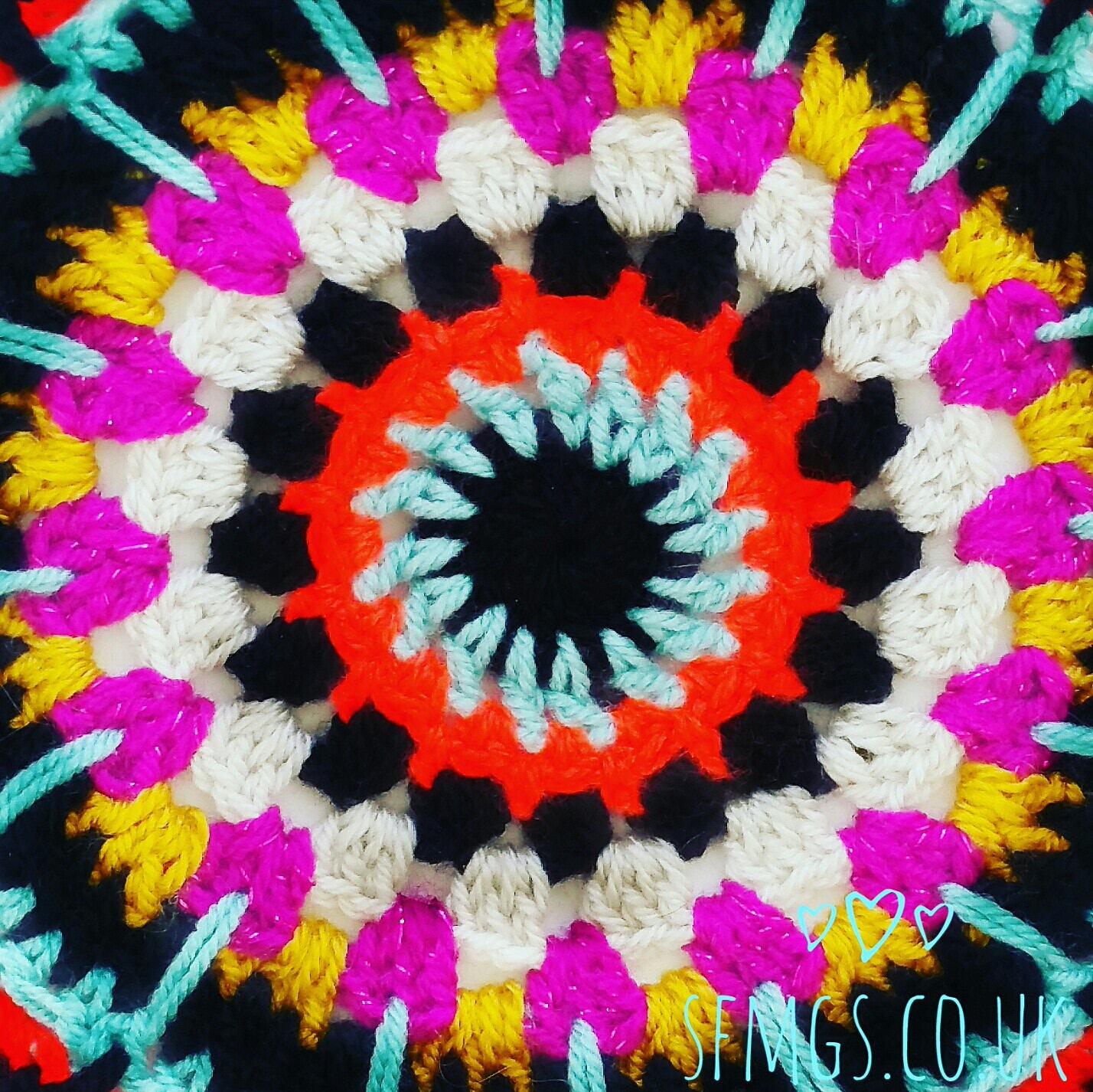 free crochet pattern mandala doily boho hippie flower tutorial