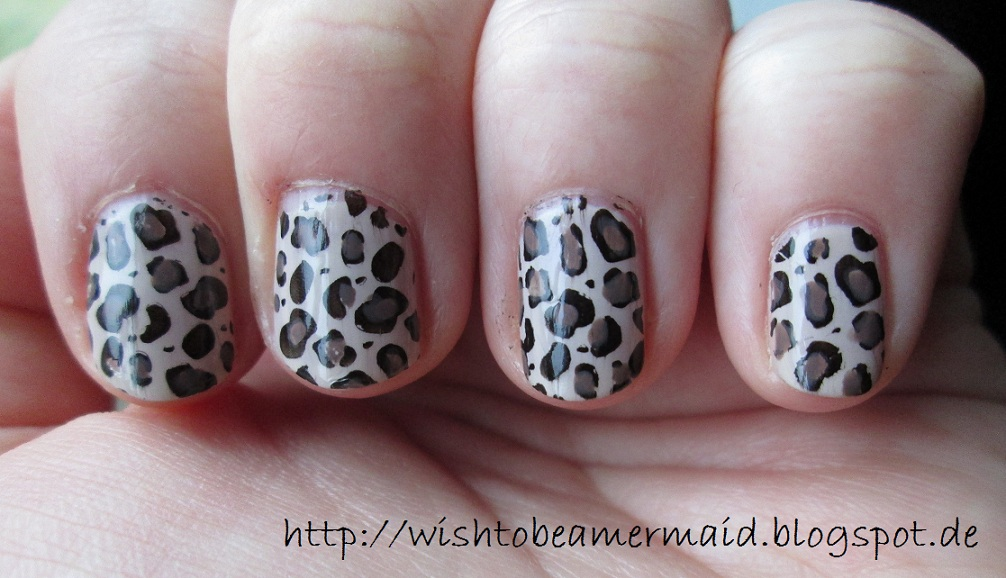 wish to be a mermaid nageldesing leoparden nails. Black Bedroom Furniture Sets. Home Design Ideas