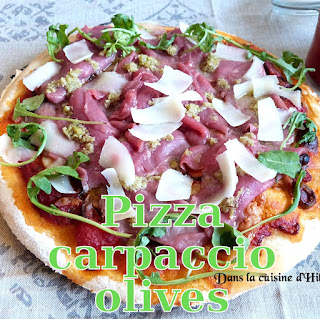 http://danslacuisinedhilary.blogspot.fr/2016/08/pizza-carpaccio-de-boeuf-olives-vertes.html
