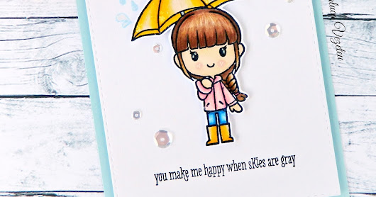 You make me happy - Studio Katia Handmade Card