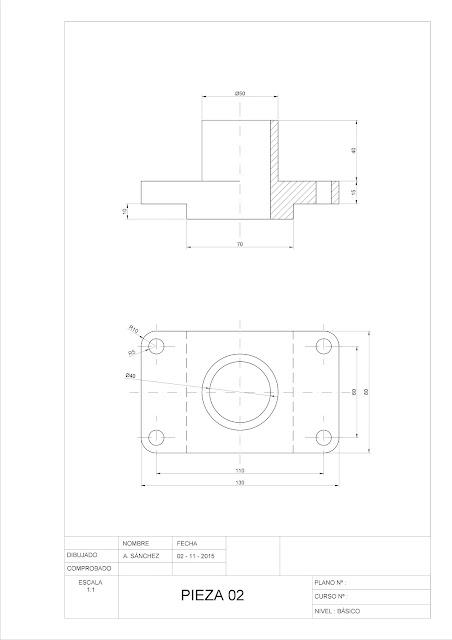 Ejercicios de Autocad 2D y 3D   Conceptos Básicos   Línea + Circunferencia + Recorte + Simetría + Copiar
