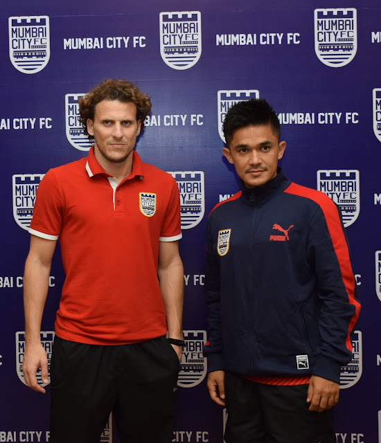 Mumbai City FC- Diego Forlan and Sunil Chhetri