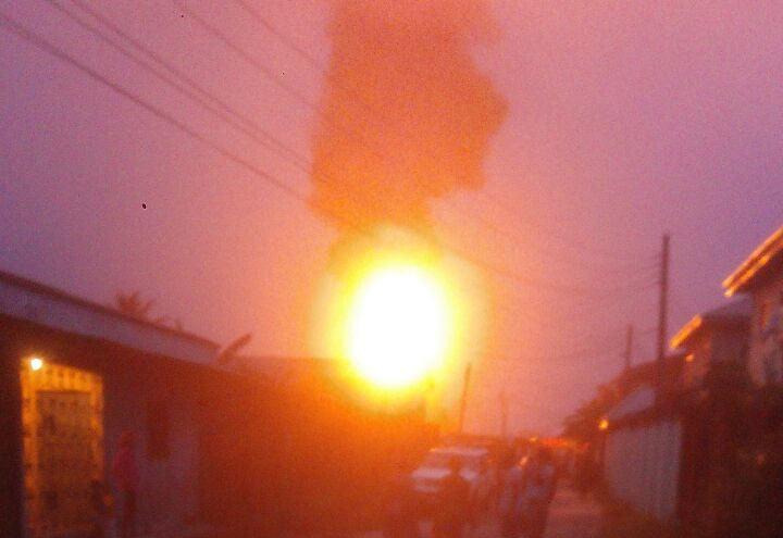 Massive explosion, fire rocks Niger Cat in Warri, Delta State