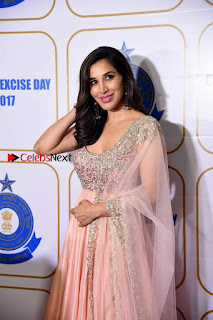 Bollywood Actress Model Sophie Choudry Stills in a Beautiful Dress at The Annual Central Excise Day Celetion  0004.jpg
