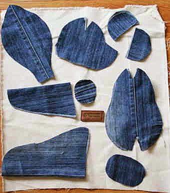 jeans tedy bear pattern
