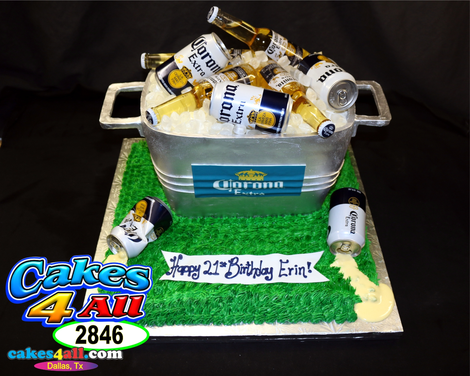 Cakes 4 All In Dallas Corona Cooler Beer 3d Cake