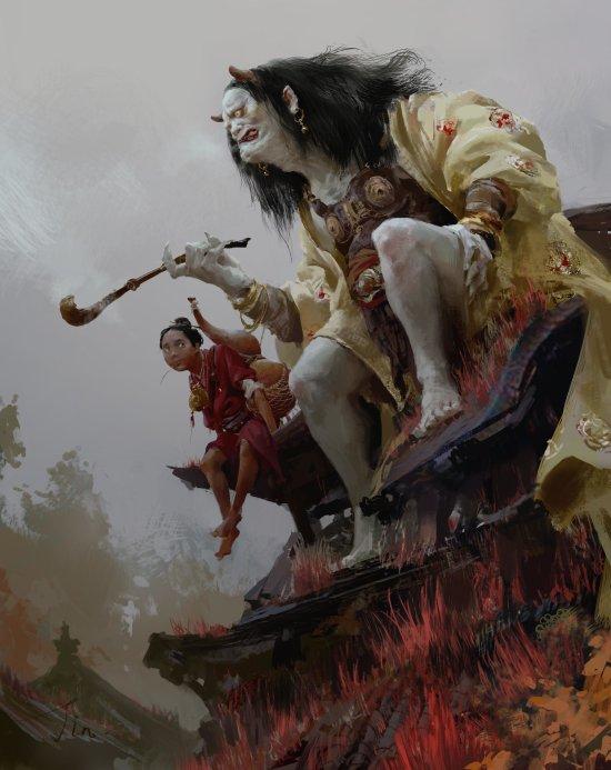 Xiaodi jin artstation arte ilustrações fantasia mitologia chinesa
