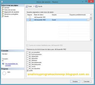 Asignación usuarios SQL Server
