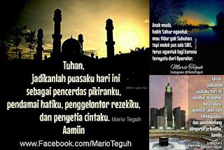 Kumpulan Dp BBM Gambar Kata Siraman Rohani Ramadhan 2015 Mario Teguh