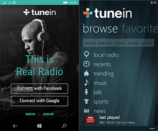 TuneIn Online Radio App for iPhone and Android