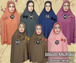 Jilbab cantik semi instan jumbo variasi bros pita