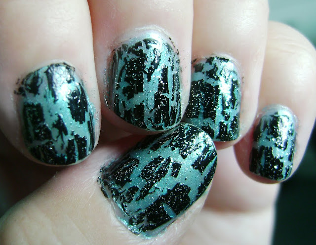 vernis craquelé shattered nail polish opi sephora blasted black