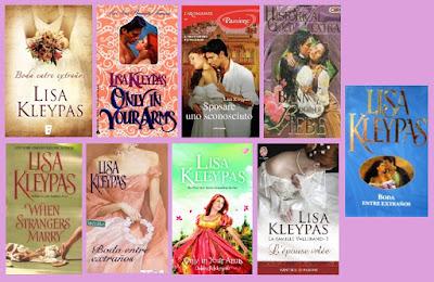 portadas de la novela romántica histórica Boda entre extraños, de Lisa Kleypas