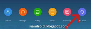 opsi pilihan menu find device di mi cloud