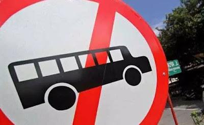 bus besar dilarang ke dieng