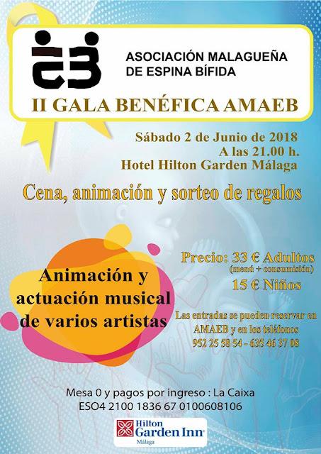 II Gala Benéfica AMAEB en Málaga