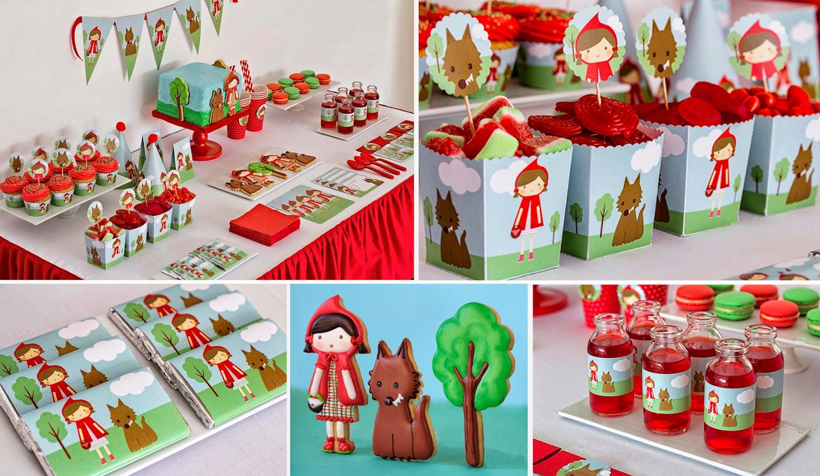 kit de fiesta cumpleaños caperucita roja