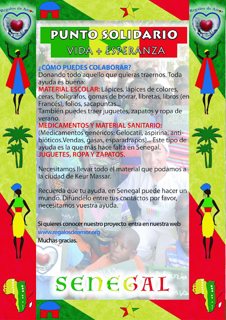 Campaña solidaria de recogida de material escolar, medicamentos, ropa, etc.