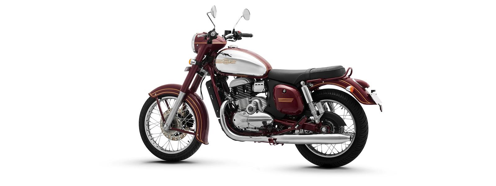 Jawa motorcycle is available in three colors,Jawa Maroon