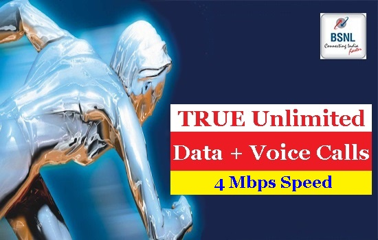 BSNL regularized 4Mbps Unlimited Broadband plan BBG Combo ULD 1599 with 24 Hrs Unlimited Free Calls to any Network in all the circles