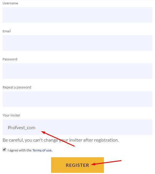 Регистрация в Coinreum 2