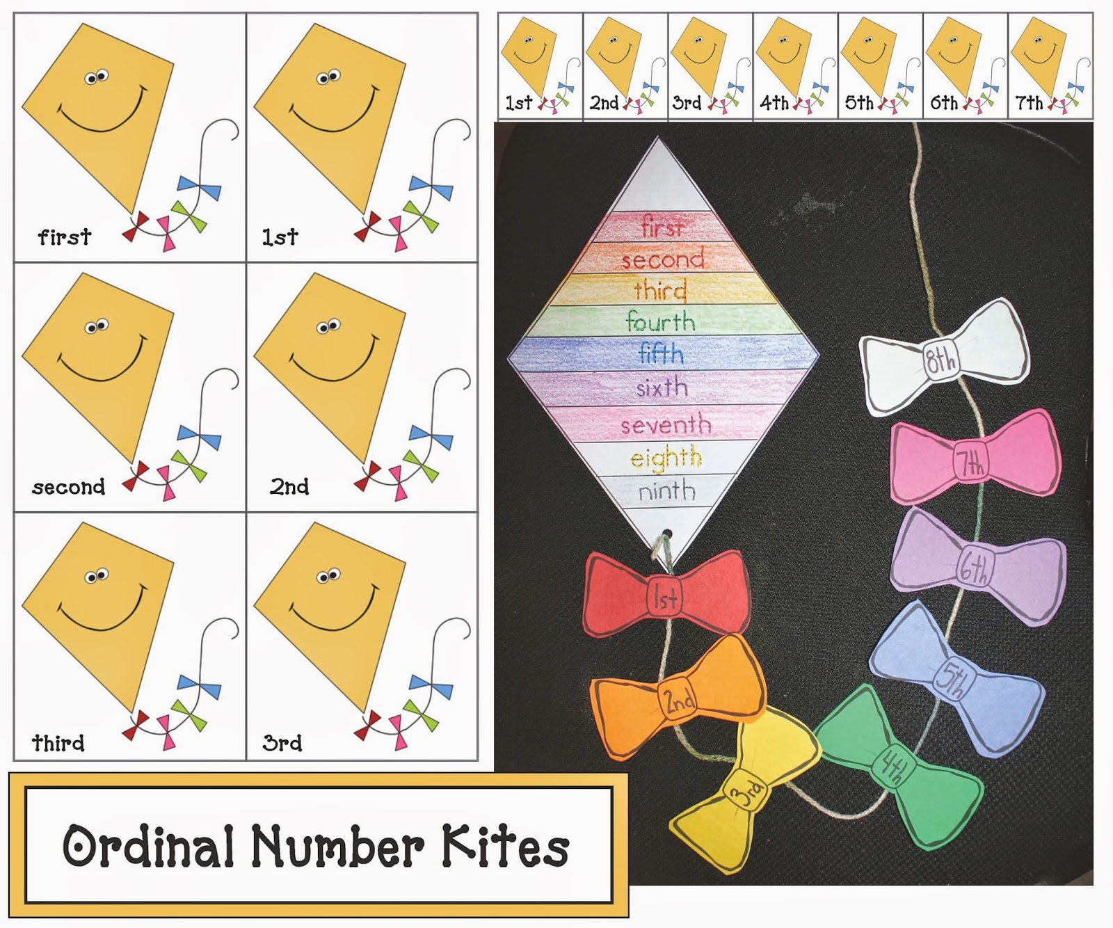 Classroom Freebies Ordinal Number Kite Activities