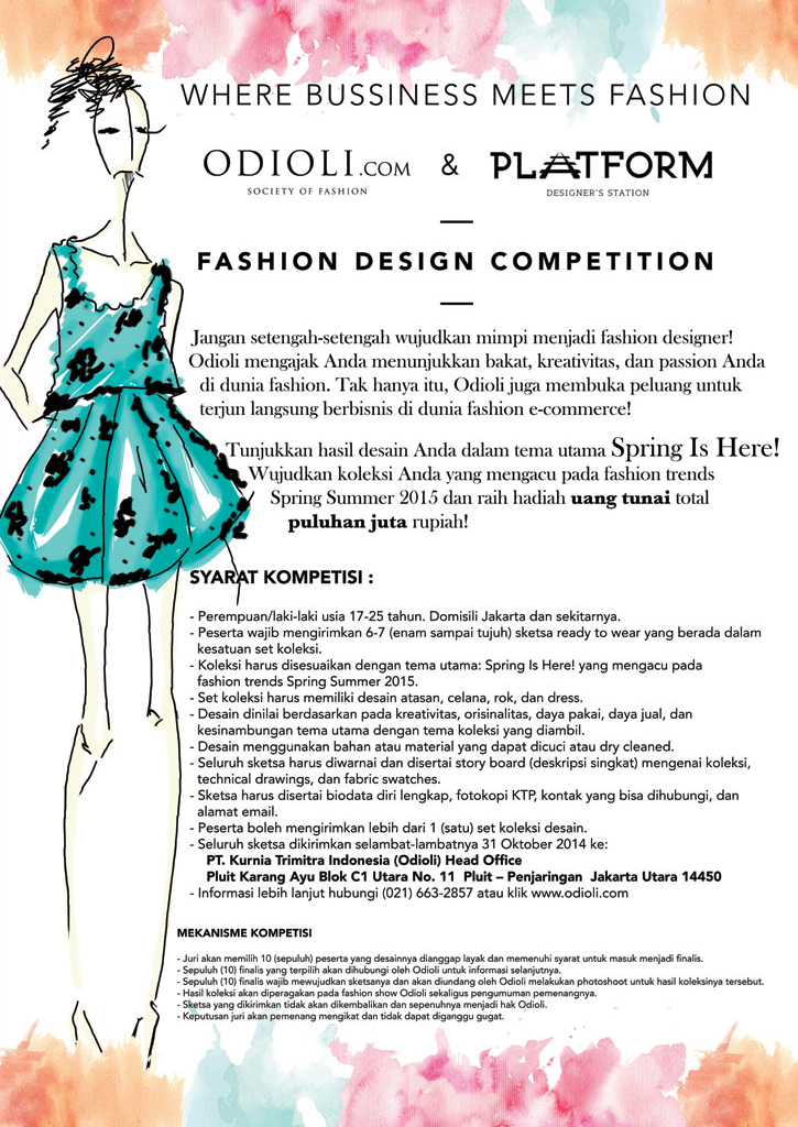 Fashion Design Competition Berhadiah Total Puluhan Juta