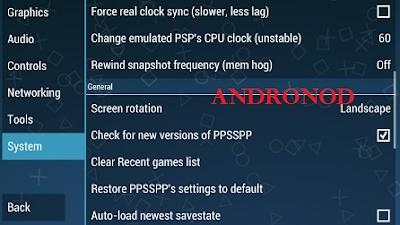 Cara Memperbaiki Black Screen Pada Emulator PPSSPP Android