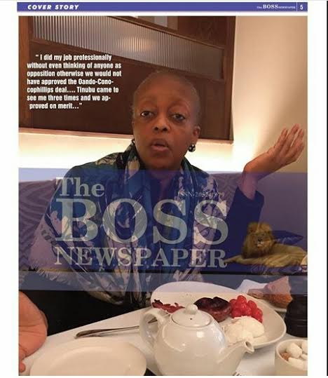New photos of Diezani Alison-Madueke in The Boss Newspaper