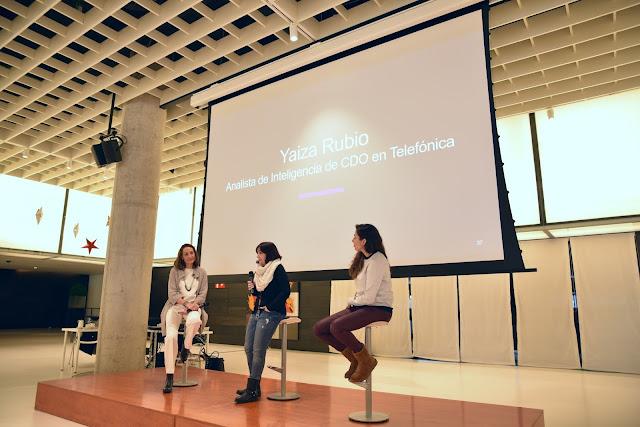 Segunda Edición de Women in Cybersecurity of Spain organizada por Telefónica con olvido, martina y yaiza imagen
