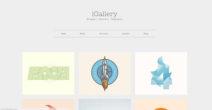 plantilla bonita minimalista para blogger igallery templateclue