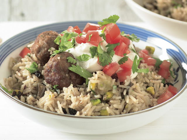 Combine mince and breadcrumbs in a medium bowl Turkish lamb pilaf recipe